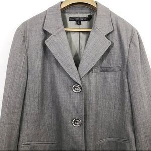Lafayette 148 New York Blazer Coat 3 Buttons Lined